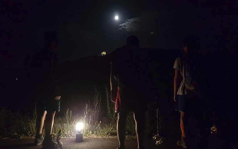 trekking notturno montefiore conca gemmano